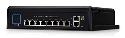 Ubiquiti Networks UniFi Industrial Switch, 10-Port Durable Switch with High-Power 802.3bt PoE++ (USW-Industrial)