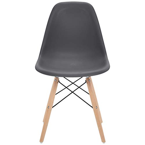 Phoenix Home Kenitra Contemporary Plastic Dining Chair, Earthy Gray