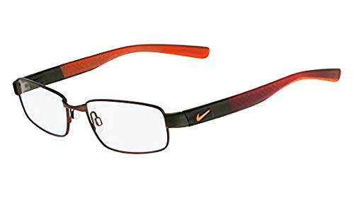 (Eyeglasses NIKE 8168 218 SATIN WALNUT-DEEPEST GREEN-HYP)