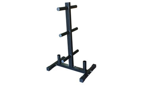 Vertical Barbell + Bumper Plate Rack Storage by Fringe Sport