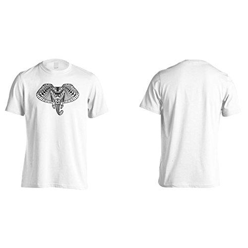 Neue Ethnische Elefantenkunst Herren T-Shirt m542m