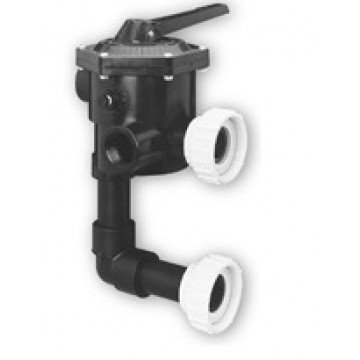 Pentair 18202-0150 ABS 6-Position Valve with Union Connections Replacement Sta-Rite Pool and Spa D.E. Filter