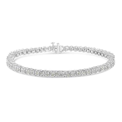 - Original Classics 1.0 Ct Rose-Cut Square Frame Diamond Tennis Bracelet - Flawless Style with Brilliant Shine