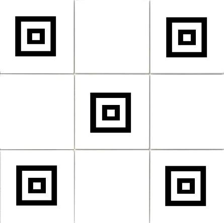 'Squares (design 2)' Kitchen/Bathroom Tile Sticker Set x36 stickers (BLACK) Vinylworld 290829090587