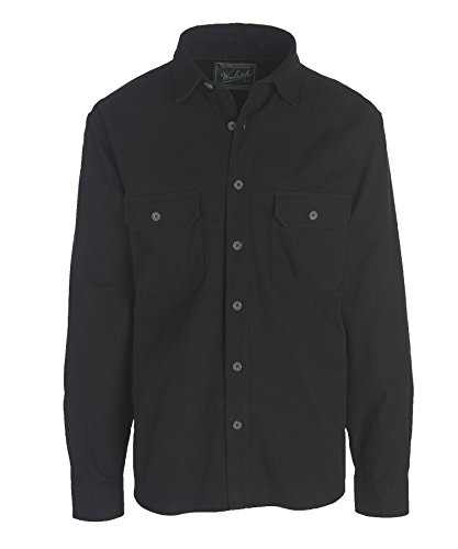 Woolrich Men's Expedition Chamois Shirt, Black, Large