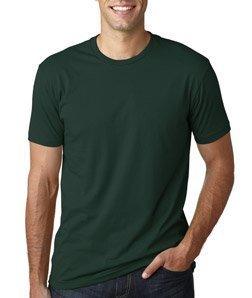 Next Level Mens Premium Fitted Short-Sleeve Crew T-Shirt - Medium - Forest Green