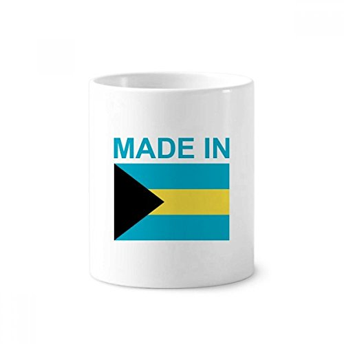 Made in Bahamas Country Love Toothbrush Pen Holder Mug White Ceramic Cup 12oz