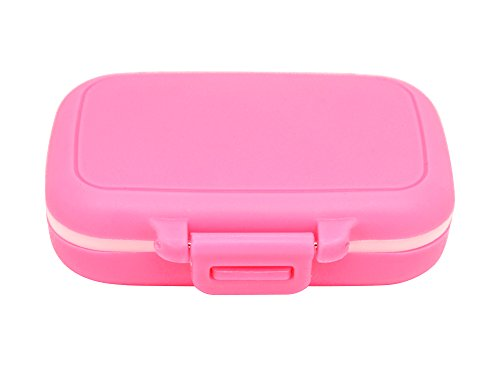Meta-U Small Pill Box Supplement Case for Pocket or Purse - 3 Removable Compartments Travel Medication Carry Case - Daily Vitamin Organizer Box ()