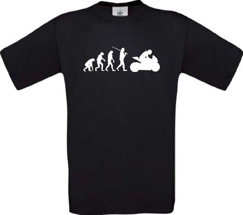 ShirtInStyle T-Shirt Evolution Motorrad Sport Fun spezial Edition, Farbe schwarz, Größe XXXL