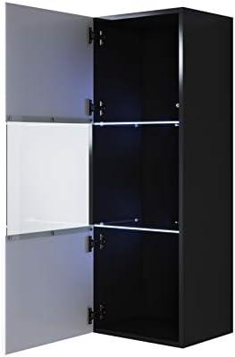 muebles bonitos Armario Colgante Modelo Luke V3 (40x126cm) Color Negro y Blanco: Amazon.es: Hogar