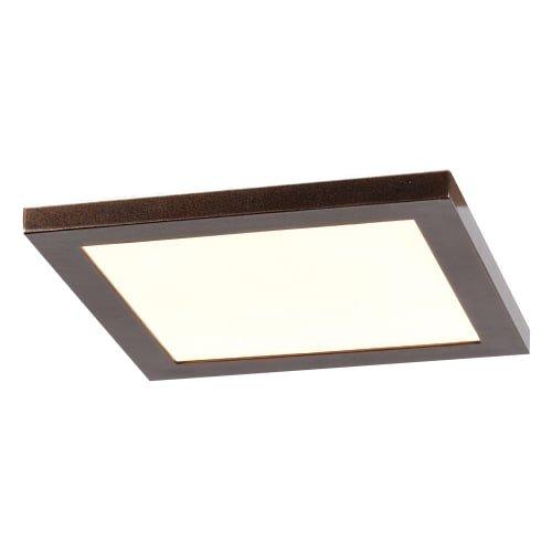 Access Lighting Boxer 7.5'' LED Square Flush Mount - Bronze Finish with White Acrylic Lens