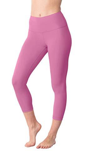 a9446062c448c Yogalicious High Waist Ultra Soft Lightweight Capris - High Rise Yoga Pants  - Lychee Pink -