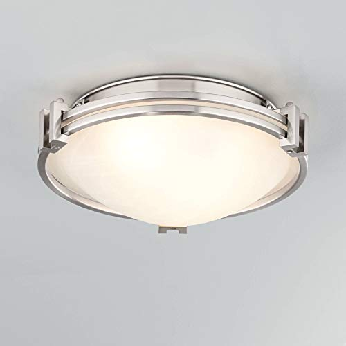 "Possini Euro Deco 12 3/4"" Wide Brushed Nickel Ceiling Light - Possini Euro Design"