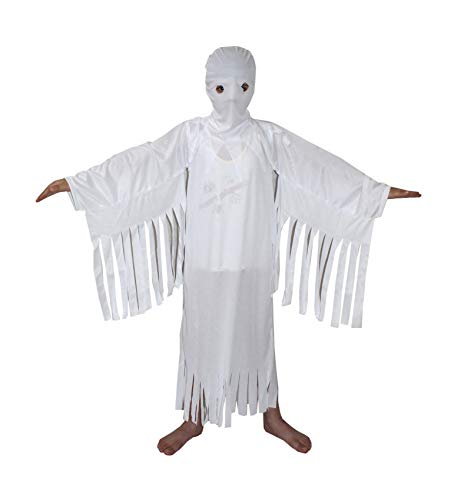 White Ghost Halloween Costume/CaliFor Kidsnia Costume For Kids School Annual function/Theme Party/Competition/Stage Shows/Birthday Party Dress -