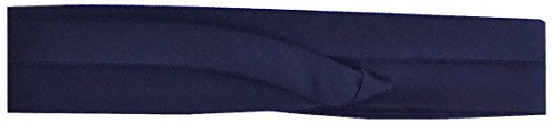 (FQH Hat Bands - 2-Pleated Narrow Cotton Hat Band With Two Hooks (Navy))