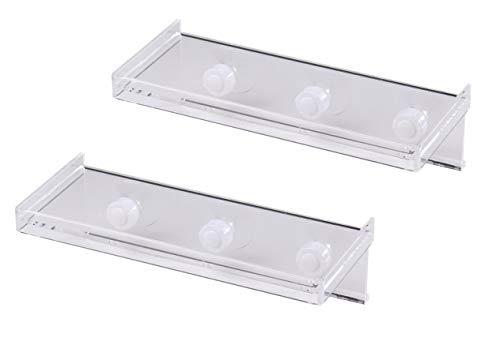 Mardili Large Window Sill Suction Cup Shelf,2 Pairs