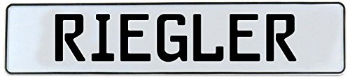 Mancave Wall Art (Riegler White Stamped Aluminum Street Sign) - Vintage Parts 736742