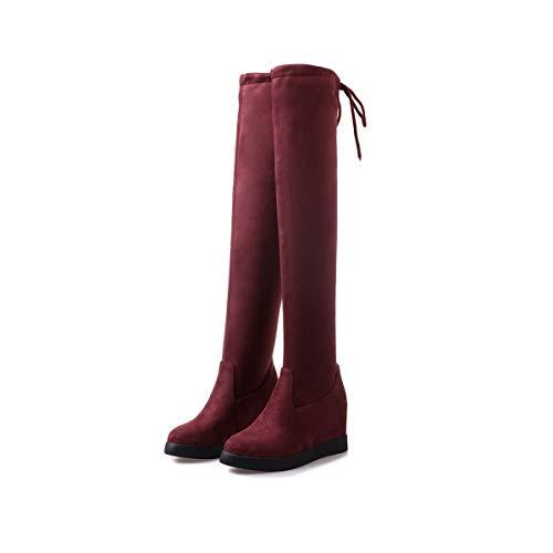 otoño Botas el Invierno el DEDE y en Ante de wine Red Sandalette Moda De w8qaxxPv
