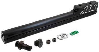 (A1825100BK1820-25-100BK - AEM 25-100BK Fuel Rail - Anodized Black, Aluminum, Direct Fit)