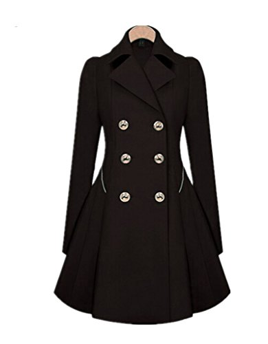 Double Breasted Long Sleeve Coat - 3