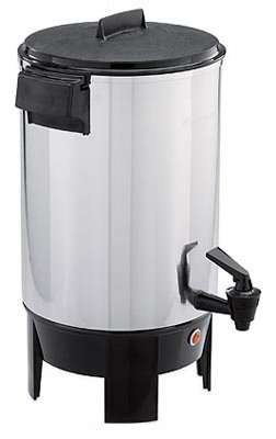 West Bend 13500 55-Cup Polished-Aluminum Commercial Coffee Urn from Focus Electrics, LLC