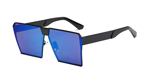 inspirées retro soleil Bleu vintage métallique Mercure Lennon rond polarisées en lunettes du cercle style de 5YTtqt