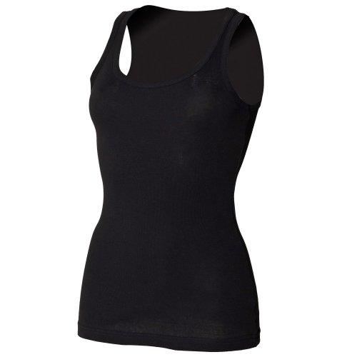 Skinni Fit- Camiseta de tirantes para chica/mujer Negro