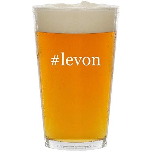 #levon - Glass Hashtag 16oz Beer Pint