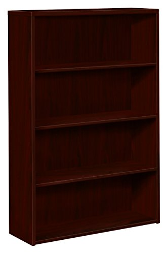 (HON 10500 Series Bookcase, 3 Shelves, 36 W by 13-1/8 D by 43-3/8 H, Mahogany)