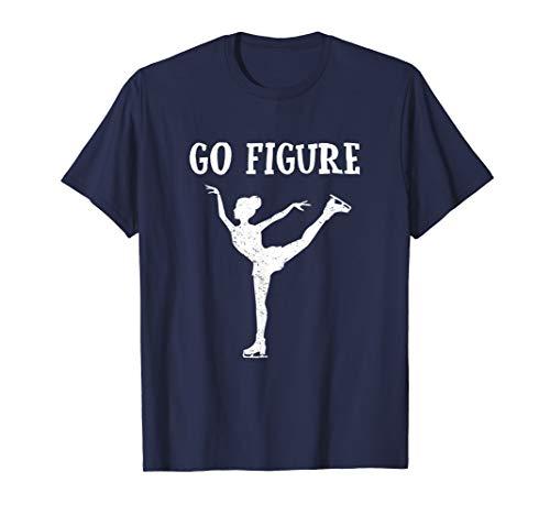 Figure Skating TShirt Gift for Girls Women Go Figure ()