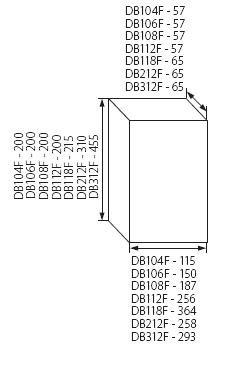 Sicherungskasten Kleinverteiler IP40 Unterputz Unterverteilung 1-reihig 6 Module 1x6 einreihig mit DIN-Schiene Unterputz-Verteiler Verteilerk/ästen Einbau Montage Verteilerbox