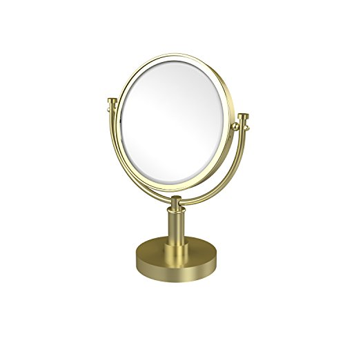 Allied Brass DM-4/2X-SBR 8-Inch Table Mirror with 2x Magnification, 15-Inch, Satin Brass ()