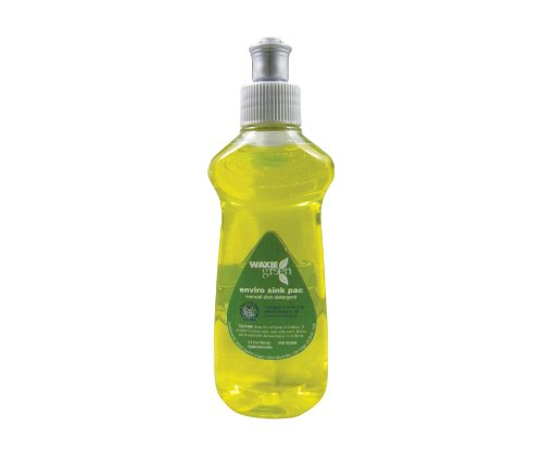 WAXIE-Green Enviro-Sink Liquid Dish Detergent, 3.5 oz Bottle (Case of 90) by Waxie