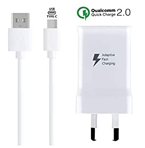 Samsung Fast Charger, Fast Charger for Samsung, Adaptive Fast Charging Wall Charger Adapter with 3.3FT USB Type C Cable for Samsung Galaxy S9 S9 Plus S8 S8 Plus S10 S10+ Plus Note 9 Note 8