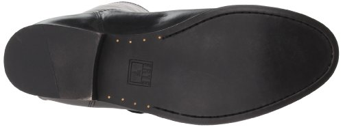 Frye Melissa de la mujer botón cremallera en la espalda Black Wide Calf Smooth Vintage Leather-76431