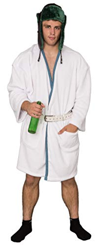 Christmas Vacation Cousin Eddie White Robe and Belt Costume Set]()