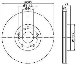 Set of 2 TEXTAR 92177903 Bremsscheibe