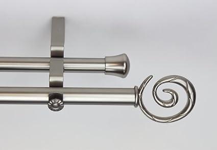Amazoncom Modern Spiral Double Curtain Rod Size 48 84 W Finish