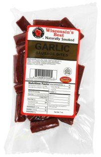 Variety Wisconsin Package (Sausage Stick Bites (Garlic) Naturally Hickory Smoked, Full Flavored Sausage Bite Size Snacks. Perfect Protein Snack, On the Go, Travel Snack. Fishing, Hunting and Sports Snack.)
