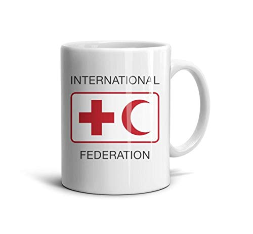 HMAG Tea Mugs International Federation of Red Cross and Red Crescent Societies Gift Mug Souvenir Cups (Federation Of Red Cross And Red Crescent Societies)