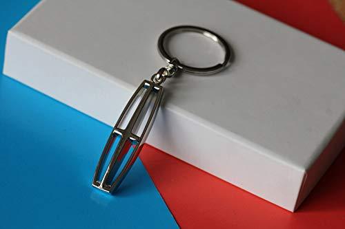 Oriental eLife 3D Lincoln Car Logo Chrome Keychain Stainless Keychain Keyring by Oriental eLife