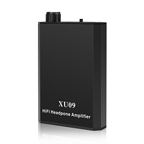 YOHOOLYO Portable Headphone Amplifier Audio Powered Headphone Amplifier Black