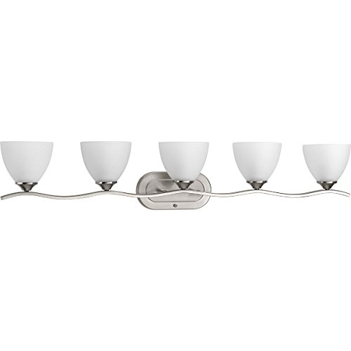 Progress Lighting P300099-009 Laird Five-Light Bath, Brushed Nickel