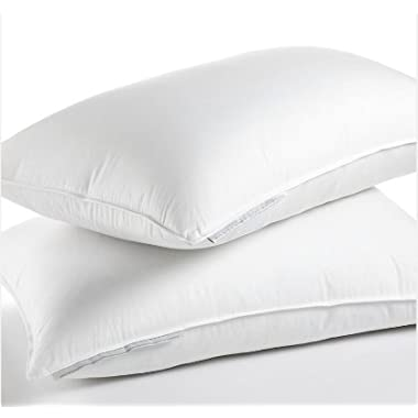Calvin Klein Luxe White Goose Down Pillow - 300 Thread Count