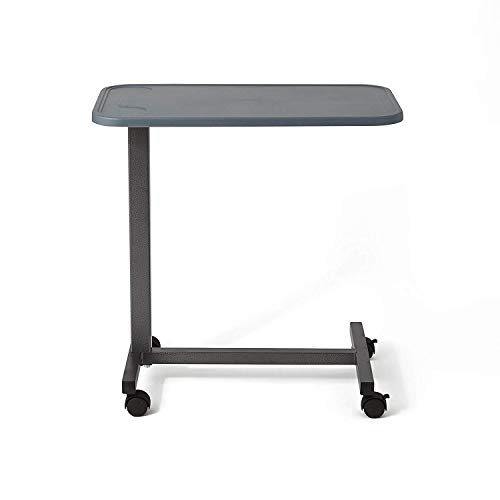 Anah Adjustable Bedside Table with Wheels for Hospital Use or at Home as A Bed Tray Composite Countertop (Top Overbed Composite Table)