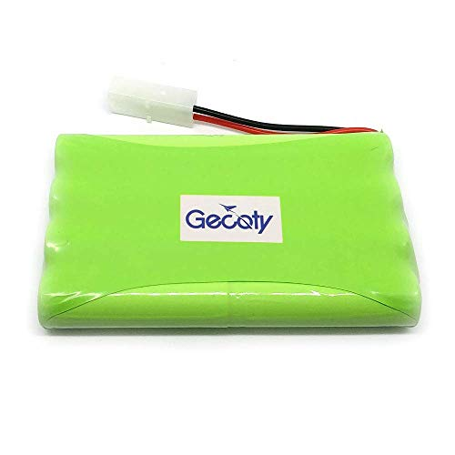 Gecoty 9.6V 2400mAh Ni-MH Rechargeable AA Battery Pack KET 2P Plug for Remote Control Toys, Lighting, Security Facilities, Electric Tools, etc