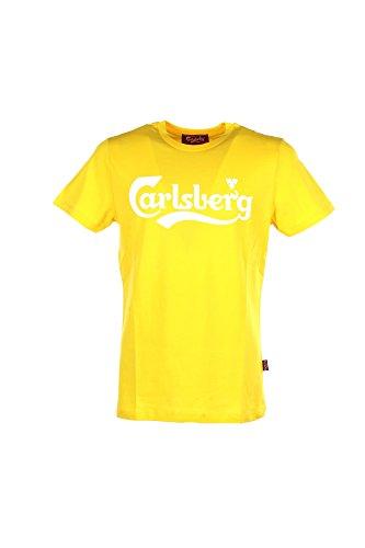 T-shirt Uomo Carlsberg XL Giallo Cbu2904 Primavera Estate 2018