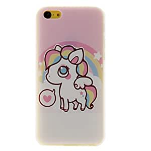 Lovely Small Horse Pattern PC Hard Case for iPhone 5C 00801458