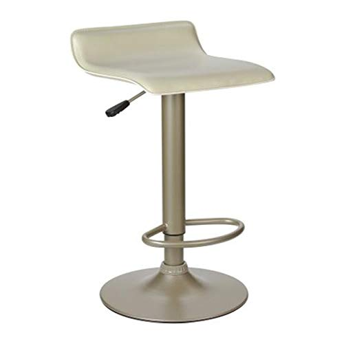 OKSLO Single airlift swivel stool with beige pvc seat