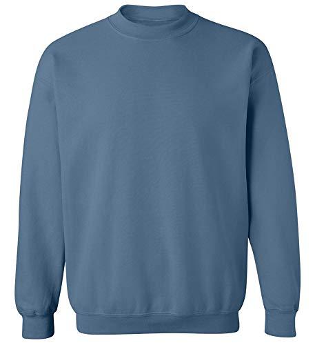 Joe's USA - Soft & Cozy Crewneck Sweatshirts, L Indigo Blue
